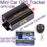 GPS103B Avl車データロギングのための遠隔コントローラー及びサポートSDカードを持つ自動GPS車の追跡者