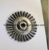 ねじれの結び目の回転車輪の円のステンレス鋼のワイヤーブラシ