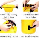 20L/10L saco seco - saco seco de flutuação impermeável superior da engrenagem do Duffle do rolo de Wolfyok com as cintas de ombro ajustáveis para o desporto de barco/Kayaking/pesca/transportar/Campin