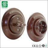 Interruptor eléctrico montado rubor de cerámica retro del interruptor de la pared