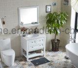 [سليد ووود] حوض بيضاء خزفيّة خشبيّ حديثة غرفة حمّام تفاهة خزانة ([أكس1-و75])