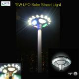 IP65 15W OVNI Todo en uno Luz de calle solar