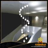 Luz pendiente de cristal del metal casero moderno LED (AD14037-19A)