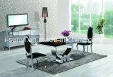 Tabella pranzante superiore di marmo Tempered o di vetro dell'acciaio inossidabile