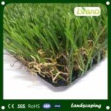 Vier die Kleur 35mm Hoogte 16800 Dichtheid Hoge Dtex Kunstmatig Gras modelleren