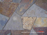 Black Rusty Slate Basts with Mesh for Garden Flooring