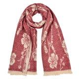 冬の暖かい編まれた編まれたショールのスカーフ(SP253)のような女性の180*60cmの可逆カシミヤ織