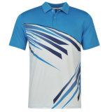 昇華コオロギのチームジャージー卸し売りカスタムデザインカスタムロゴのポロシャツ
