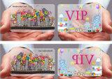 Livrar do negócio desobstruído do PVC do projeto o cartão transparente