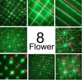 Красный цвет + зеленый цвет конструкции модуля репроектора лазерного луча света рождества двигая свет сада 8 цветков