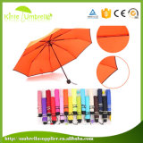 Parapluie ouvert de fois du pongé 3 du manuel 21inch de bonne qualité