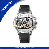 Montre-bracelet multiple imperméable à l'eau personnalisée de fuseau horaire de modèle