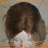 Haut de Gamme longue perruque blonde cheveux humains de la Dentelle (PPG-L-0400)