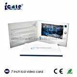 7 pulgadas LCD Brochure-Video Booklet-Video vídeo de la tarjeta en la impresión