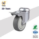 Heißer Verkauf 4 '' PU-Metallhöhlung-Hauptperson-Fußrollen-Räder mit dem Gesamtbremsen-Sperrung für industrielles