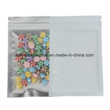 アルミホイルの白いカラーはジッパーの上の薬の袋のジップロック式のマイラー袋を立てる