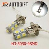 Feu de brouillard de voiture 5050 9 SMD LED 12V 24V Ampoules LED 6500K