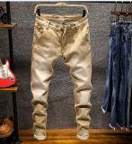 全販売細い適合の石の洗浄高いウエストの人のカラーによってはデニムのジーンズが喘ぐ