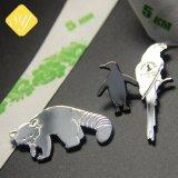 Facory 가격 관례에 의하여 도금되는 동물 옷 고리 접어젖힌 옷깃 Pin 기장