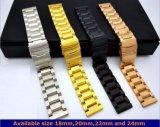 De nieuwe Band van het Horloge van het Roestvrij staal van 3 Parels voor Riem 18mm/20mm/22mm en 24mm van Iwatch van het Horloge van de Appel