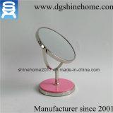 Round espelho de maquilhagem em cromo polido espelhos de maquilhagem com ampliação de 5X