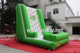 Mur d'escalade gonflable vert intéressant pour les vacances d'été