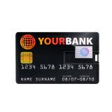 Lecteur flash USB par la carte de crédit de cadeaux d'affaires avec le logo personnalisé