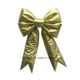 Bowknot não tecido do ouro Handmade para a decoração do Natal