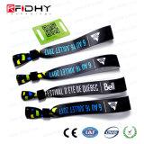 Braccialetto tessuto RFID personalizzato impermeabile di stampa di disegno di qualità eccellente