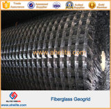 Redes autas-adhesivo de Geo de la fibra de vidrio con resistencia de las temperaturas altas