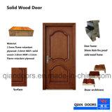 Le bois massif en noyer noir gravé en bois Portes intérieure de porte