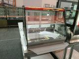 Minikuchen-Einkommen-Tisch-Oberseite-Kuchen-Bildschirmanzeige-warmer Schaukasten mit Regal 1 und 2 kann Option sein