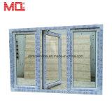 Finestra della stoffa per tendine del PVC Whosale con la finestra francese di vetro della cavità del gas dell'argon