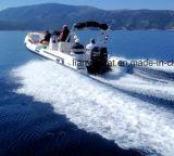 Liya 22FT Cer-anerkanntes Mittelkonsolen-Boots-China-Rippen-Boot