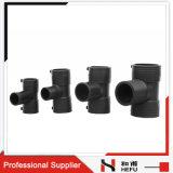 Encaixe plástico do T do encanamento da tubulação de gás do HDPE da resistência de corrosão