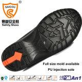 Ботинки безопасности Nubuck стального пальца ноги высокой пятки кожаный с стальной крышкой пальца ноги
