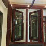 Marco del grano del traspaso térmico del doble de aluminio de madera del perfil/toldo de cristal Windows