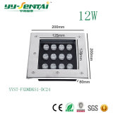 luz subterráneo impermeable cuadrada de 12W LED