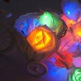 Le temps pendant de vacances de l'éclairage LED RVB de Rose allume l'éclairage de décoration d'arbre de Noël