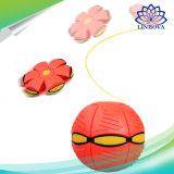 طيران [أوفو] مسطّحة سحريّة كرة رمز أسطوانة كرة مع [لد] خفيفة لعبة لأنّ جديات خارجيّ حديقة شاطئ لعبة إجهاد كرة