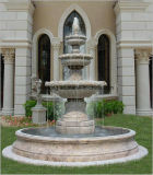 Fontein van het Water van de Hand van de steen de Marmeren Snijdende voor OpenluchtTuin/Landschap/Werf