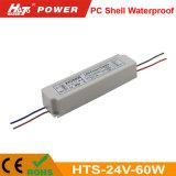 24V 2.5A 60W Waterproof a fonte de alimentação do interruptor para o módulo do diodo emissor de luz