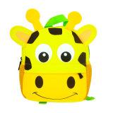 Buho cómodo del mono de la jirafa del bolso del diseño de los niños 3D del morral del niño del cabrito del neopreno de escuela de los bolsos de la historieta animal linda del jardín de la infancia
