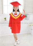 Robe de chapeau de graduation de gosses d'enfants de jardin d'enfants d'école primaire d'OEM