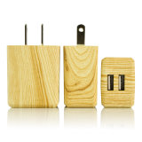 Nosotros UE 5V 2un de madera doble USB cargador de teléfono móvil