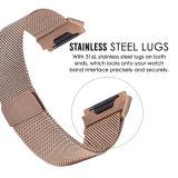 Nam de Gouden Milanese Ionische Band van het Horloge van het Roestvrij staal van de Riem Fitbit toe