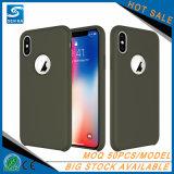 広州のiPhone Xのための製品によってカスタマイズされる液体のシリコーンの携帯電話の箱