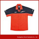 Équipage 100% fait sur commande de mine de coton de broderie F1 emballant des chemises pour les hommes (S51)