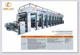 Presse typographique automatisée automatique à grande vitesse de gravure de Roto avec l'entraînement d'arbre (DLY-91000C)