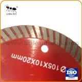 105mm de la hoja de sierra de diamante de corte de cerámica, 4 Turbo Disco de corte de azulejos de porcelana